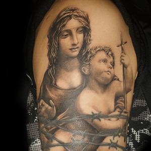 聖母子のタトゥー