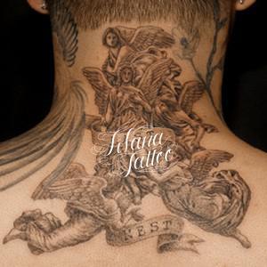 女神と天使のタトゥー