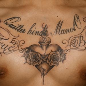 心臓|ハート|文字のタトゥー
