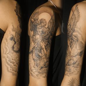 大天使ミカエルのタトゥー