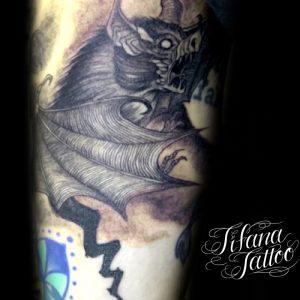 蝙蝠のタトゥー
