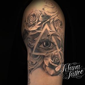 薔薇|目|図形|オーナメントのタトゥー