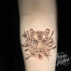 虎のファインライン ・タトゥー