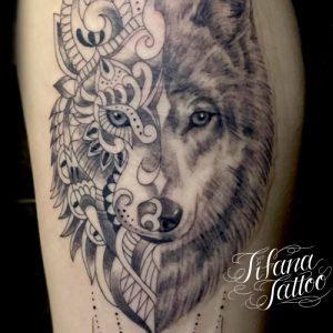 狼|曼荼羅のタトゥー