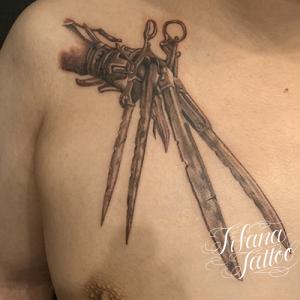 シザーハンズのタトゥー