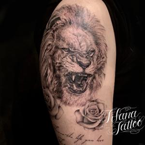 ライオンのファインライン ・タトゥー