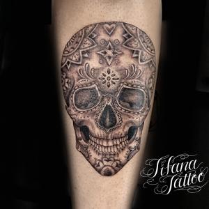 メキシカン・スカルのタトゥー