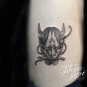 般若のファインライン・ タトゥー