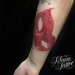 ベネチアンマスクのタトゥー