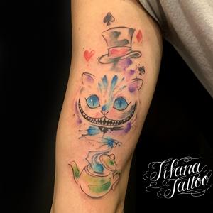 不思議な国のアリス|チェシャ猫のタトゥー