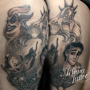 リトルマーメイドのタトゥー