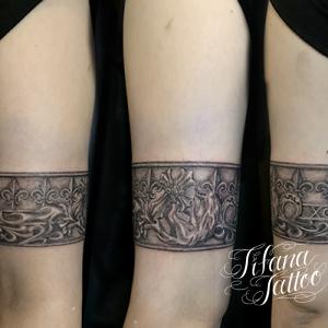 百合の紋章タトゥー