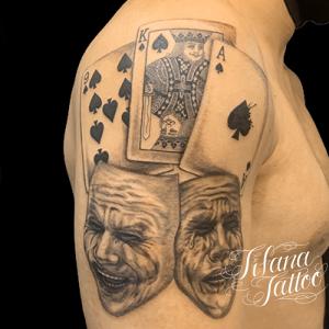 トランプ|TWO FACEのタトゥー