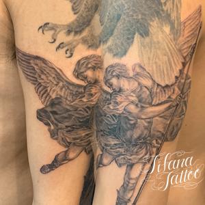 大天使ミカエルのタッチアップ・タトゥー