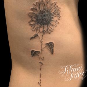 向日葵|文字のタトゥー