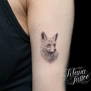 狐|キツネのファインライン ・タトゥー