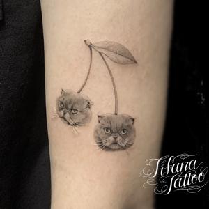 猫|チェリーのタトゥー