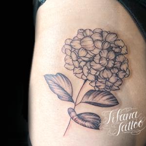 紫陽花のタトゥー
