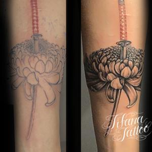 菊のリメイク・タトゥー