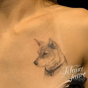 愛犬のファインライン・タトゥー