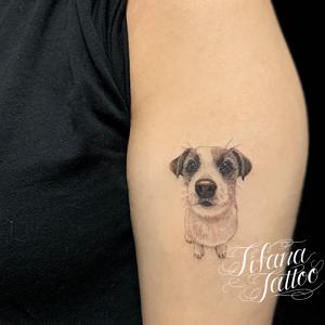 犬のポートレート・タトゥー
